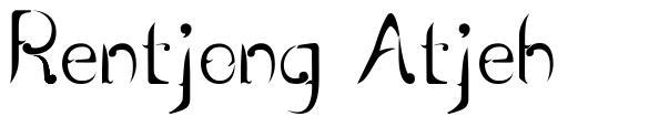 Rentjong Atjeh font