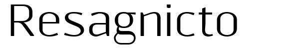 Resagnicto font