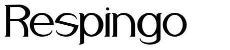 Respingo font