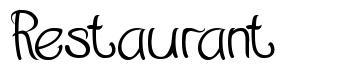 Restaurant font