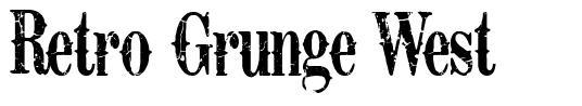 Retro Grunge West font