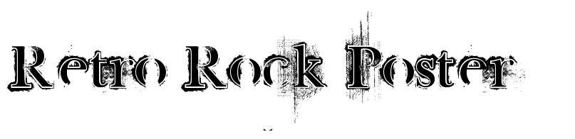 Retro Rock Poster font