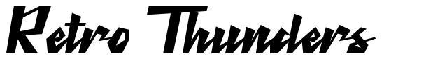 Retro Thunders 字形