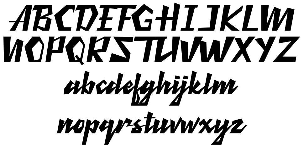 Retro Thunders font