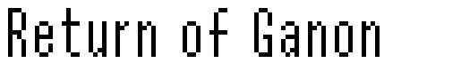 Return of Ganon font