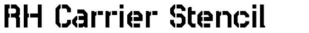 RH Carrier Stencil font