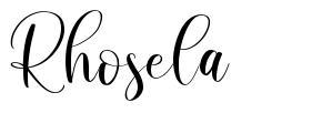 Rhosela font