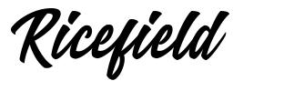 Ricefield font