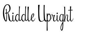 Riddle Upright font