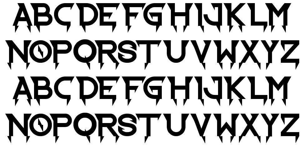 Ride the Lightning font