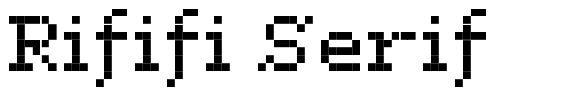Rififi Serif
