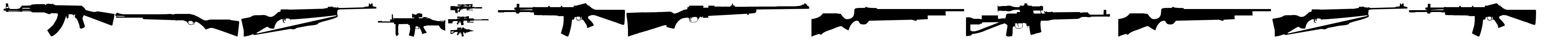 Rifle Bats TFB font