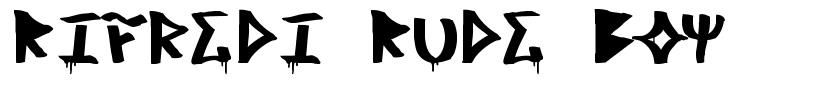 Rifredi Rude Boy font