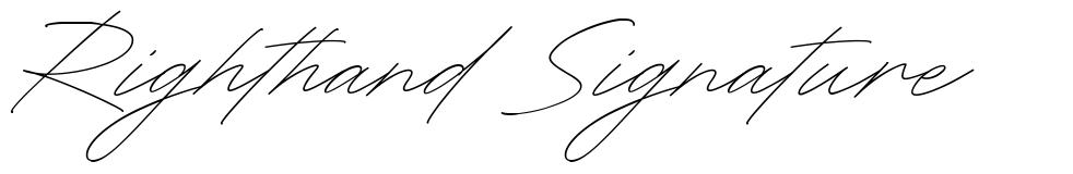 Righthand Signature font