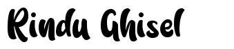 Rindu Ghisel font