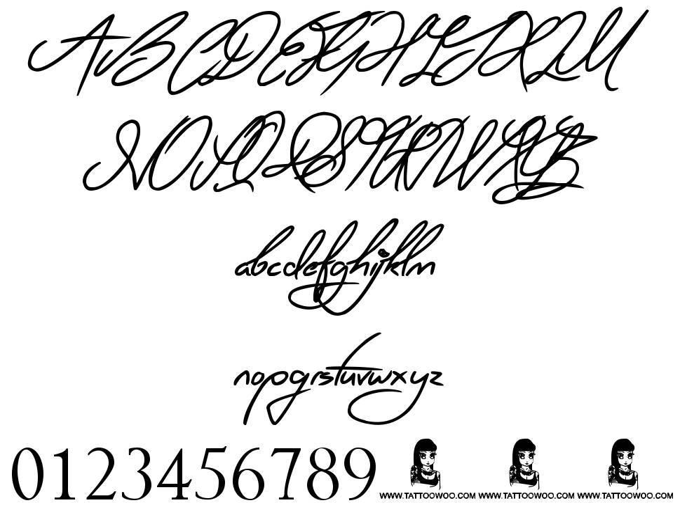 Ring Master písmo