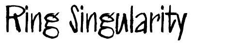 Ring Singularity font