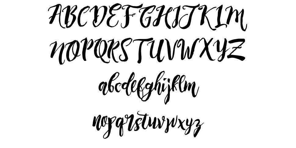 Rising Brush font