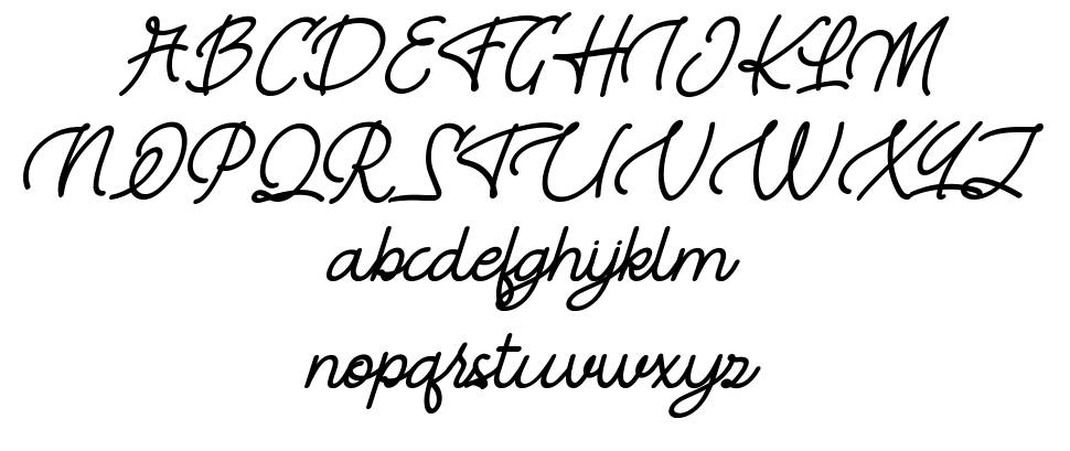 River Young font
