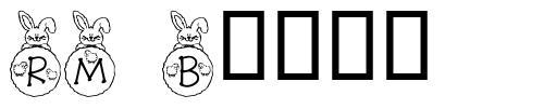 RM Bunny 字形