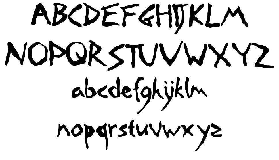 Road Crossed font