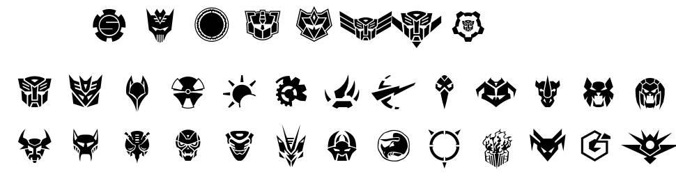 Robofan Symbol font