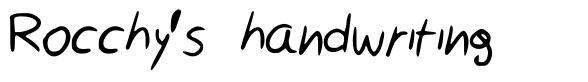 Rocchy's handwriting