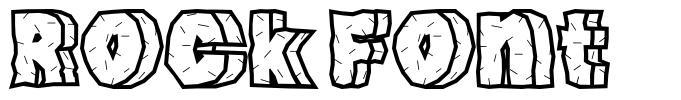 Rock Font font