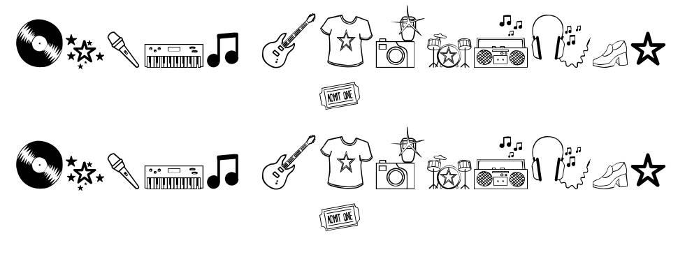 Rock Star 字形