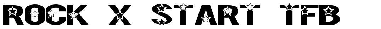 Rock X Start TFB font