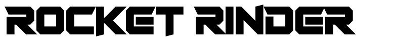 Rocket Rinder font