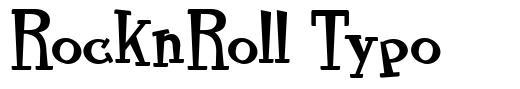 RocknRoll Typo font