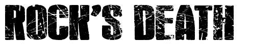 Rock's Death font