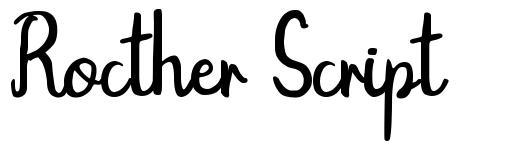 Rocther Script
