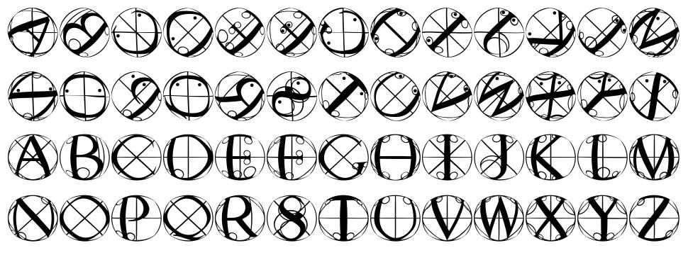 Rodau Buttons шрифт