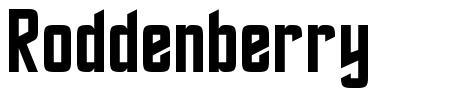 Roddenberry font