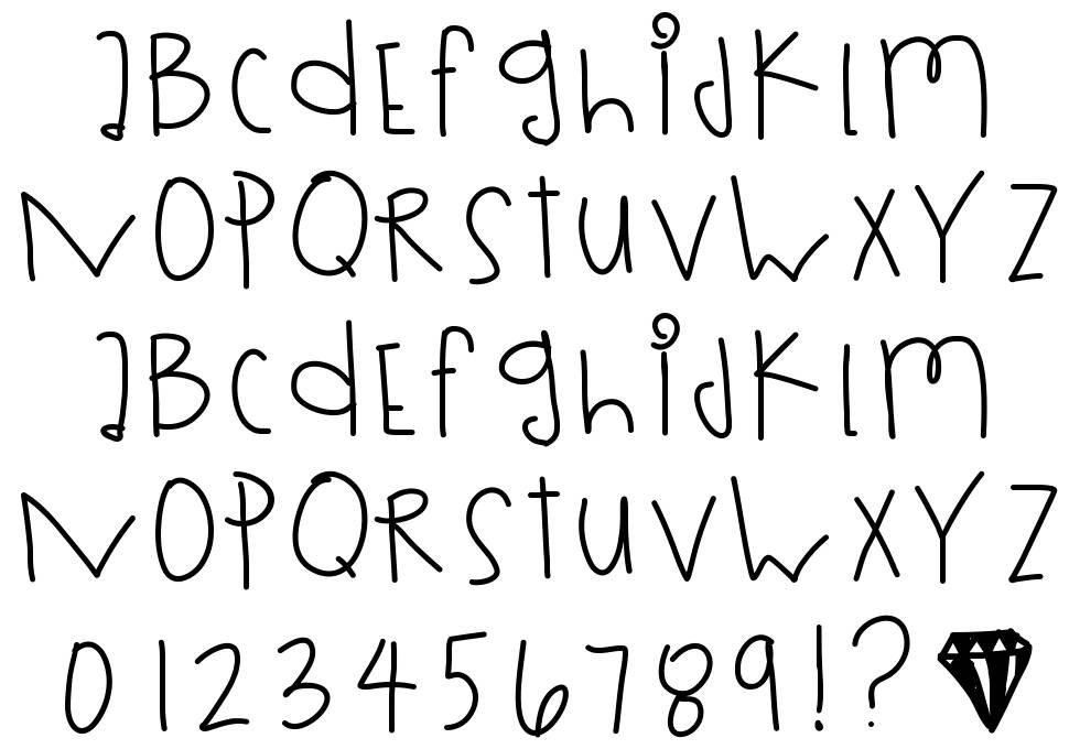 Rolling Dices font