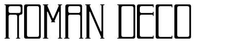 Roman Deco 字形