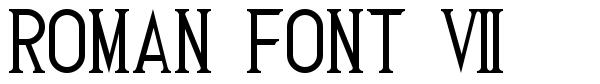 Roman Font 7 schriftart