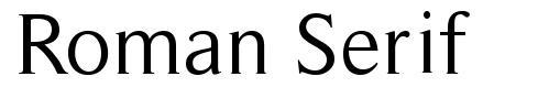 Roman Serif