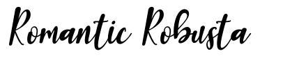 Romantic Robusta font