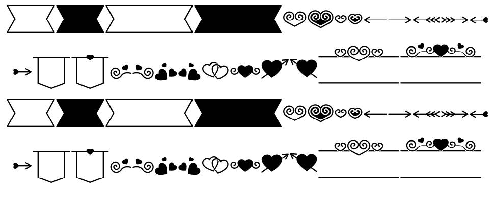 Romantine Dingbat font