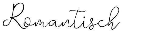Romantisch font