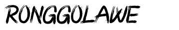 Ronggolawe font