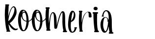 Roomeria font