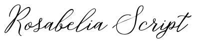 Rosabelia Script fonte