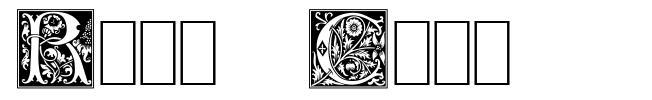 Rose Caps шрифт