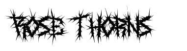 Rose Thorns font