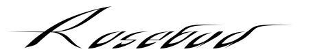 Rosebud font