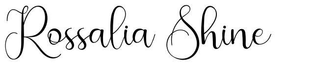 Rossalia Shine フォント